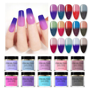 BORN PRETTY 10ml Thermal Dipping Powder Glitter Color Changin Nail Art Dust