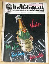 Das Weinblatt Deutsche Weinfachzeitung Heft 35/36/1955 Wein Winzer