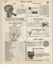 1926 PAPER AD Solar Brand Gas Bicycle Lamp Parts Repair Diagram 3 in 1 Oil