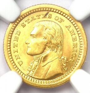1903 Jefferson Commemorative Gold Dollar Coin G$1 - Certified NGC MS64 (BU UNC)