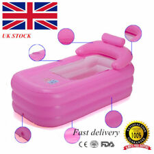 160cm Adult PVC folding Portable Blowup bathtub OUTDOOR inflatable bath tub UK