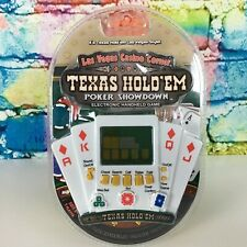 TEXAS HOLD 'EM POKER SHOWDOWN Electronic Handheld Game Travel Pocker Size Cards