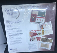 Creative Memories 12x12 White Picture Pocket Pages 9 Sheets RCM12P