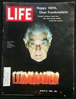 LIFE Magazine  Mar 15 1968 - BORIS KARLOFF / Frankenstein / Bill Cosby / Vietnam
