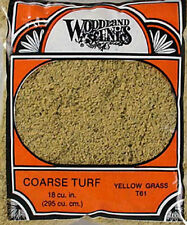 NEW Woodland Scenics Turf Coarse Yellow Grass 12 oz T61