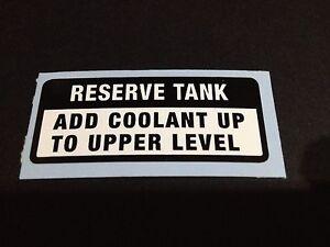 "HONDA NSR400 ""RESERVE COOLANT TANK"" REPRODUCTION DECAL HONDA NS 400R"