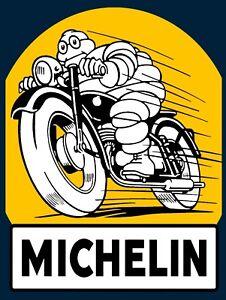 Vintage METAL Retro MICHELIN TYRES Car Bike Workshop Garage Shed Man Cave SIGN
