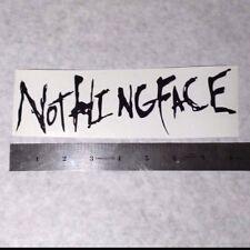 NOTHINGFACE Vinyl DECAL STICKER BLK/WHT/RED Heavy Metal BAND Logo Window Guitar