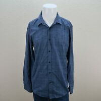 Hugo Boss Blue Long Sleeve Button Down Slim Fit Check Casual shirt Mens Large