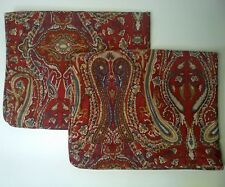 2 Ralph Lauren Standard Shams - Beachside Red Paisley