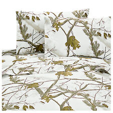 Realtree AP Snow HD Camouflage Queen Sheet Set 4 pieces Outdoors - Realtree APC