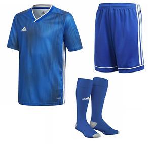 Adidas Fußball Kinder Trikotset, Satz Trikot+Shorts+Stutzen, Tiro 19 blau Gr.152
