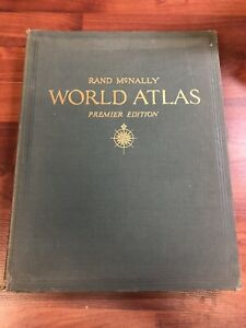Vintage 1951 Rand Mcnally World Atlas Premier Edition - With Revision Supplement
