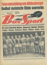 Zeitschrift Box Sport 49. Jahrgang 1966 Nr. 18 Meister Kannewurf Kottysch Peek