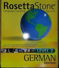Rosetta Stone German Level 2 Language Learning Discs