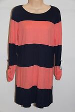 NWT Tommy Bahama Swimsuit Cover Up Beach Sweater Bold Stripe Sz M Coral Mare