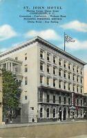 Charleston South Carolina~St. John Hotel~Pleasing Personal Service 1943 Postcard