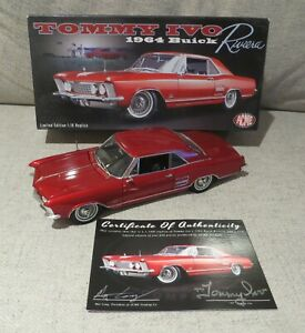 """AUTOGRAPHED - 1964 BUICK RIVIERA """"TOMMY IVO"""" TOW CAR  ACME 1/18 GMP - BRAND NEW"""