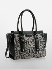 Calvin klein womens daron logo center zip city shopper tote bag granite