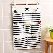 Hanging Storage Bag Multifunciton Pockets Organizer Cotton Wall Door Home Org...