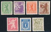SBZ, MiNr. 1-7 B, tadellos postfrisch, Mi. 170,-