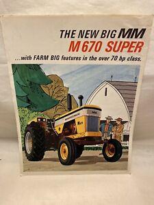 1966 MINNEAPOLIS MOLINE M670 FARM TRACTOR SALES Brochure Catalog  ADVERTISING