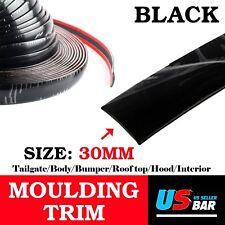 120Inch Molding Strip Trim Black 30mm Wide Car Auto SUV Door Body Trunk Decorate
