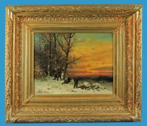 Joseph Heydendahl (1844-1906) 'Preußen auf Patrouille' Öl/Lwd. sign.u.1882 dat.