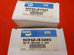 Two Bendix 109496 AD-IP 24 volt air dryer heaters Truck Bus MCI Prevost
