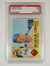 1960 Topps Baseball #62 Roger Craig Los Angeles Dodgers PSA 7 NM
