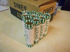10 Rolls ($50) Unsearched Roosevelt Dimes, Bank Rolled, Denver Area