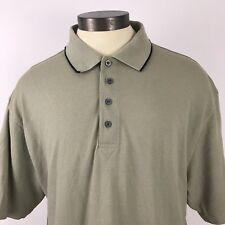 PING Men Size L Beige Short Sleeve Polo Shirt Performance