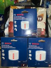 "Bosch 3 New Bi-Metal Hole Saw bits 4-1/4"", 4-1/2"" and 5"""