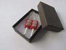 Handmade - Novelty Retro Fun Chewy Drumstick Lolly Lollipop Sweet Charm Earrings