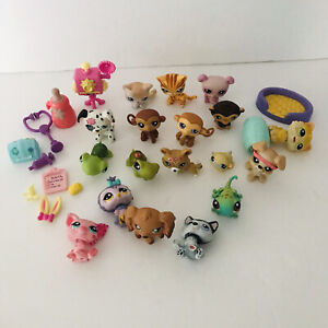 LPS Littlest Pet Shop Cat Bog Monkey Bird Accessories lot Set 25 Pcs
