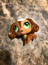 Littlest Pet Shop Cocker Spaniel 3289 Swirl Sprinkles Brown White Dog