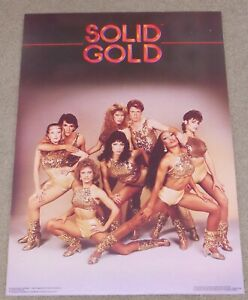 Vintage Poster 1982 SOLID GOLD DANCERS Mounted 20 x 28