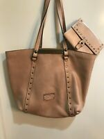 Preowned  Patricia Nash  Cream Italy Leather Large Tote w/matching wallet! CUTE!