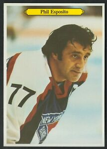 "1980-81 OPC NEW YORK RANGERS PHIL ESPOSITO SUPER PHOTO CARD 5""X7"" #14 NR-MINT"