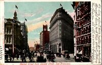 Market Street From 2nd St San Fransisco Horse Buggy Trolley Early 1900s Postcard