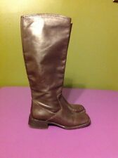 Angela Falconi Knee High Brown Leather Riding Boots Women's Size 6US 36 EU Shoes