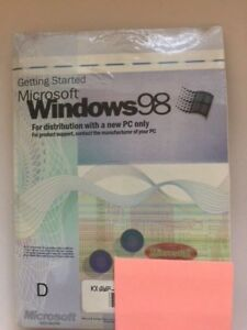 Brand New  Microsoft Windows 98  Part Number:X03-66598