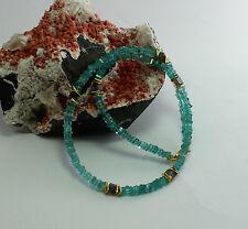 Apatite labradorite Necklace precious stone neon chain Jewelry blue Noble