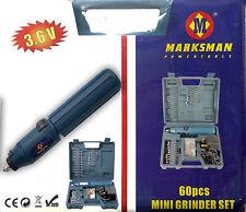 60PC Mini Taladro Conjunto Mini Amoladora Set 3.6V con una funda de transporte 67096C