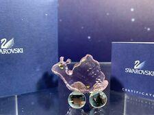 Swarovski Crystal Mint Figurine Susie The Snail Pink Snail Mib W/Coa