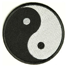 Embroidered Yin Yang Zen Taoism Balance Sew or Iron on Patch Biker Patch