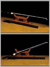 Japan Ninja Sect Shrine Full Tang Samurai Sword Katana Black Carbon Steel Sharp