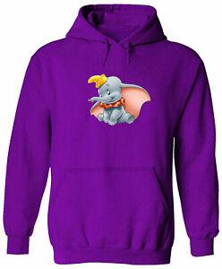 Unisex Sweater Men Women Pullover Hoodie Sweatshirt Flying Elephant Cute Dumbo