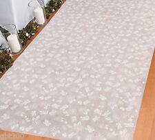 100 ft Rose Print Wedding Aisle Runner Long White Flower Printed Floral Bridal