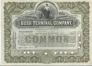Bush Terminal Company Stock Certificate Brooklyn Barge